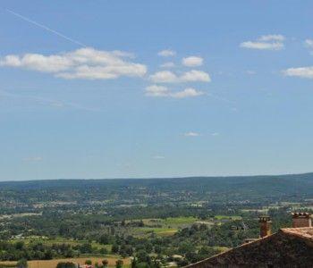 Vue panoramique depuis le Château de Bessas