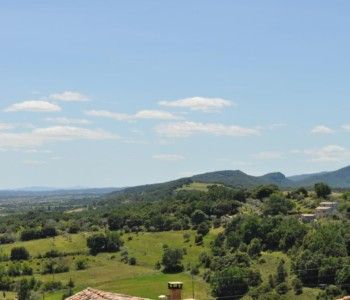 Panoramic view from Château de Bessas