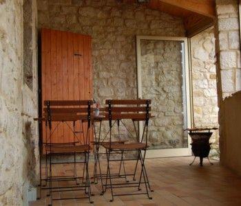 Gîte Ostau de Viltage - Terrasse couverte